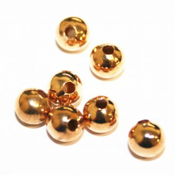 100pcs x 4mm champagne gold spacer ball - C7003063